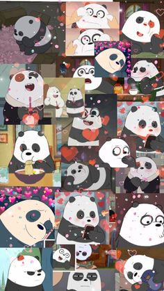 we bare bears Cute Panda Wallpaper, Cartoon Wallpaper Iphone, Bear Wallpaper, Cute Patterns Wallpaper, Cute Disney Wallpaper, Kawaii Wallpaper, Cute Wallpaper Backgrounds, Wallpaper Desktop, Girl Wallpaper