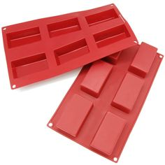 Freshware 6-cavity Rectangular Brownie, Corn Bread, Muffin and Soap Molds