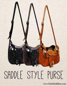 A new twist on a classic style saddle purse!