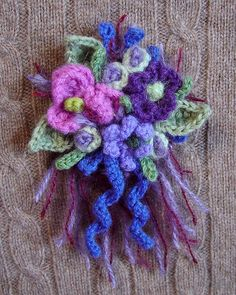 Crochet Corsage Purple Passion  by meekssandygirl, via Flickr