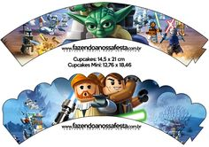 Saias Wrappers para Cupcakes Lego Star Wars: