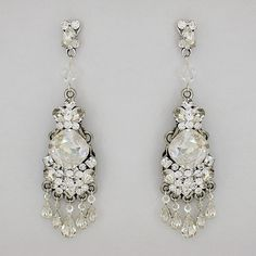 Beautiful vintage glam earrings