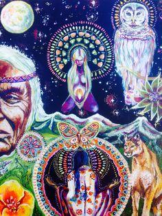Art sacré visionnaire déesse spirituelle par MariposaGalactica
