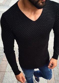 Knit to fit Cool Outfits, Casual Outfits, Fashion Outfits, Casual Wear, Men Casual, Moda Formal, Style Masculin, Mens Attire, Cool Sweaters