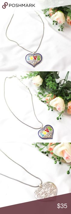 Brighton Summer of Love Necklace NWT Brighton Summer of Love Necklace, Colorful Silver Tone Heart Necklace. New with tags. NWT. Brighton Jewelry Necklaces