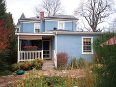 REAL ESTATE- ON THE BLOCK- Queenly blue: Stucco turns heads in Belmont | The Hook - Charlottesville's weekly newspaper, news magazine Beach House Colors, Weekly Newspaper, Stucco Homes, House Painting, Shed, Real Estate, Exterior, Outdoor Structures, Magazine