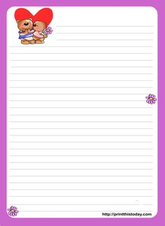 Love Letter Writing Paper - Performance professional