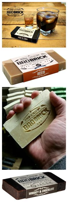 BRO BRICK - Manliest bricks of soap in Rum & Coke, Beer & Whiskey &…