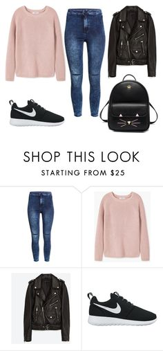 """""""Untitled #256"""" by jovanaaxx on Polyvore featuring H&M, MANGO, Jakke and NIKE"""