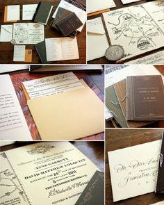Vintage Book-inspired invitation, complete with library pocket and return card