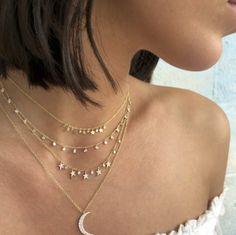Stardust ✨💫💫💫✨ #lovelindys . . . . . #youreastar #rockstar #meirat #neckmess #layerlove #necklacestack #pileiton #moonandstars #blingiton #thisishowyoulayer #lindysjewelry #lindys #ameliaisland #fernandinabeach #finejewelry #boutiquestyle #designerjewelry #jewelsfordreamers #makeawish #jewelsdocometrue Amelia Island, Meira T, Fernandina Beach, Make A Wish, Fashion Boutique, Custom Jewelry, Jewelry Stores, Fine Jewelry, Jewelry Design