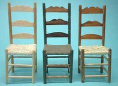 Silla con asiento tejido - 椅子ー1