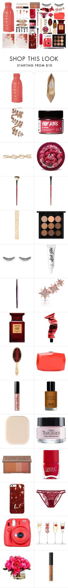 """Best Dressed Guest: Winery"" by miica-olavarria ❤ liked on Polyvore featuring Carolina Herrera, Jimmy Choo, Sidney Chung, Repossi, The Body Shop, Smashbox, Stila, MAC Cosmetics, RMK and Benefit"