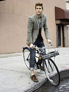 Biking in style. most of the time, its the whole look