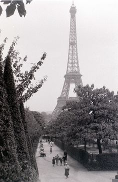 Vintage Paris. Eiffel tower.