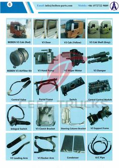 Parts catalogue Beiben trucks accessories catalogue