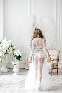 Wedding Robe, Lace Bridal Robe, Wedding Lingerie, Wedding Underwear, Bridal Nightgown, Lace Nightgown, Nightgowns, Wedding Attire, Wedding Shoes