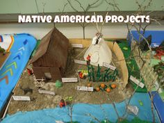 YouTube video showing fifth grade students' Native American projects (with Native American background music)