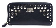 Juicy Couture Leather Zip YSRU2417-1 Wallet,Black,One Size Juicy Couture. $89.99
