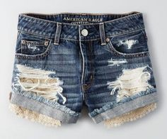 AEO Hi-Rise Festival Shorts. I want these shorts Distressed High Waisted Shorts, Ripped Jean Shorts, American Eagle Outfits, American Eagle Shirts, Denim Shorts Style, Cute Shorts, Festival Shorts, Teen Girl Outfits, Pink Outfits