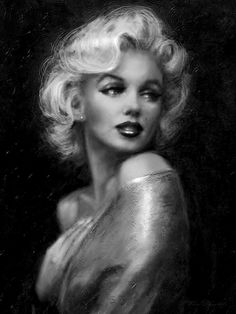 Stunning portrait painting of Marilyn Monroe / Norma Jean Mortenson by Thoe Danella - She started using the name in 1946 but didn't legally change it until She appeared on the first cover of Playboy magazine in Marylin Monroe, Marilyn Monroe Kunst, Marilyn Monroe Artwork, Marilyn Monroe Decor, Marilyn Monroe Drawing, Marilyn Monroe Portrait, Marilyn Monroe Tattoo, Norma Jeane, Brigitte Bardot