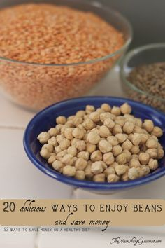 Beans are hardly boring! Here are 20 ways to utilize them in delicious and frugal ways.