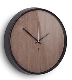 NUMBERLESS WOOD FINISHED ROUND WALL CLOCK