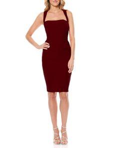Laundry by Shelli Segal | Red Twist Back Jersey Body-con Dress | Lyst