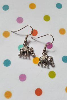 Elephant earrings, Elephant jewellery, Dangle earrings, Animal jewellery, Nature, Animals, Wildlife, Animal lovers, Elephant, Elephant gift