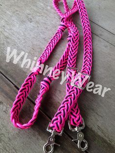 Pink and Black braided reins by WhinneyWear     www.whinneywear.com    horse tack, barrel racing, pole bending, rodeo