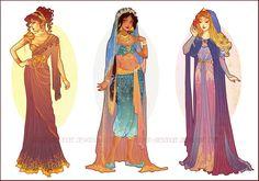 Art Nouveau Costume Designs V by Hannah-Alexander on DeviantArt