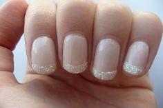 White glitter tips!