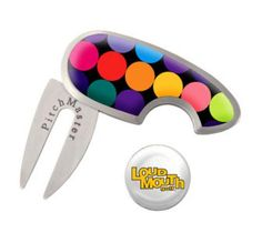 Golf Ball Markers & Repair Tools by Loudmouth Golf - Disco Balls Black.  Buy it @ ReadyGolf.com