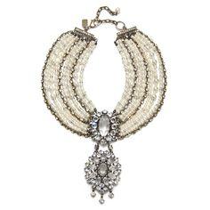 Badgley Mischka  Pearl Statement Necklace