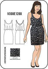 Vogue 1288 - heart prints