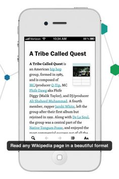 Wikiweb is a Wikipedia reader for your iPhone and iPad that visualizes the connections between articles.