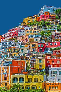 "Positano, Amalfi Coast, Italy "" I would love to visit but I really just like the picture. """