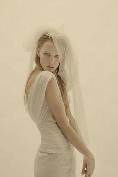 Cortana bridal wedding dress and veil