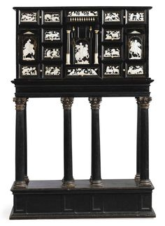 Grisaille, Black And White Style, Italian Furniture, 17th Century, White Porcelain, Art Decor, Auction, Ivory, Cabinets
