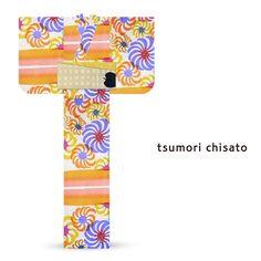 2016 Summer tsumori chisato Yukata Torsion Chrysanthemum Orange