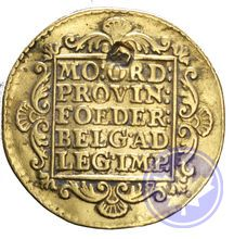 PAYS BAS 1758 ducat utrecht rebouché Conservation: ttb