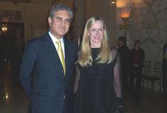 President Asif Ali Zardari of Pakistan, and Louise Blouin.