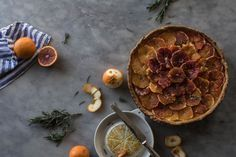 Blood Orange and Rosemary Tart - From My Dining Table