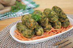 Crocchette di patate e spinaci con ricotta