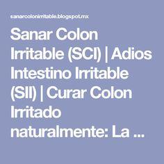 Sanar Colon Irritable (SCI) | Adios Intestino Irritable (SII) | Curar Colon Irritado naturalmente: La Colitis Nerviosa Se Puede Curar: tratamiento para el Colon Irritable