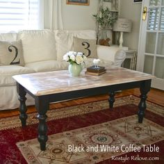 Restyle Relove: Black and White Coffee Table Makeover
