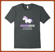527db99c Mens Unicorn Busia Shirt, Funny Cute Magical Gift XL Dark Heather - Fantasy  sci fi