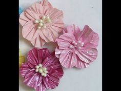 DIY:How to use circle shape into making paper flowers by SaCrafters