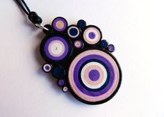 Multicircles paper pendant/quilling technique by VasariahCreations, €18.90 on Etsy
