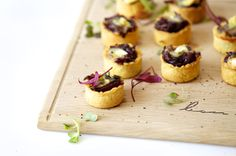 caramelised onion and brie tartlets